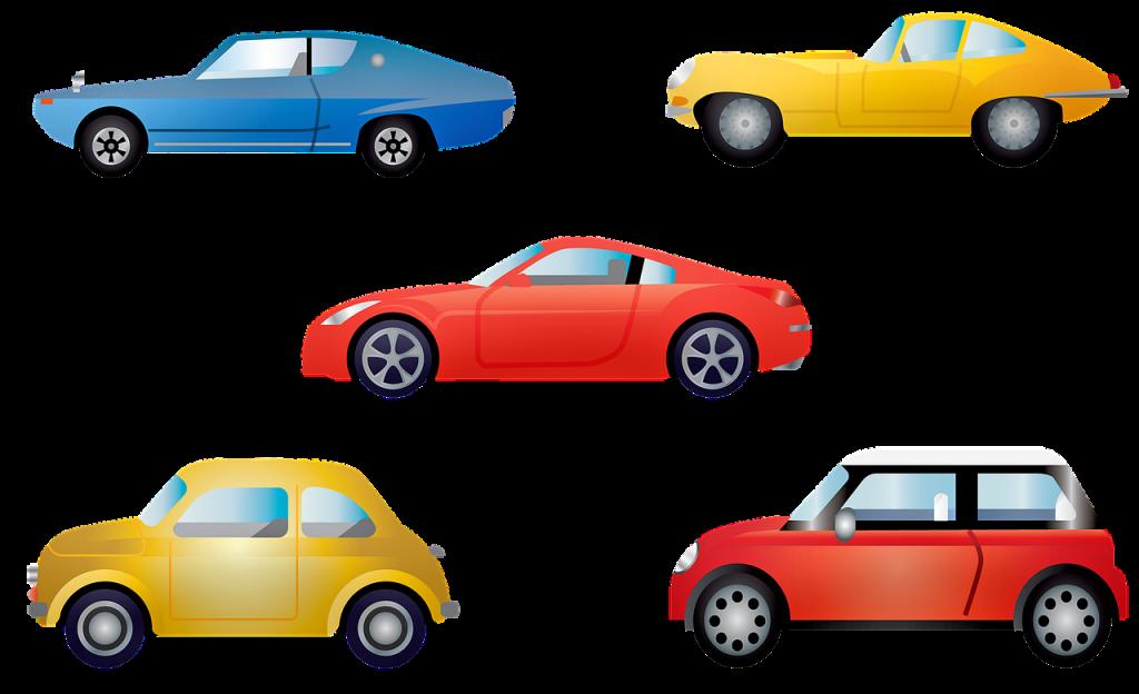 סוגים שונים של רכבים